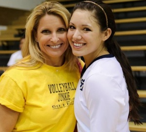Mama Shells at a GT Volleyball game - 2012